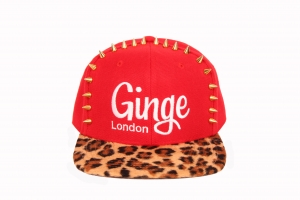 Ginge London Classic Stud Red with Leopard