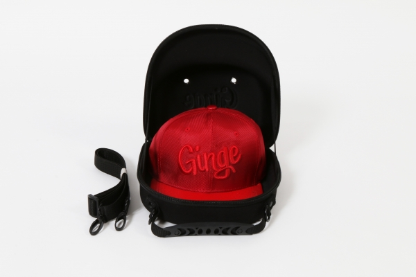 Cap Carry Case With Red Snakeskin Strapback
