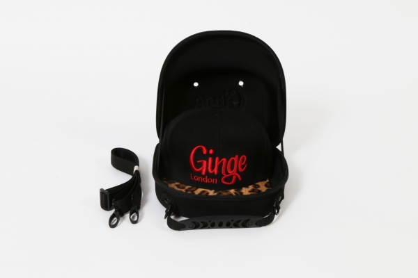Cap Carry Case With Black Leopard Print