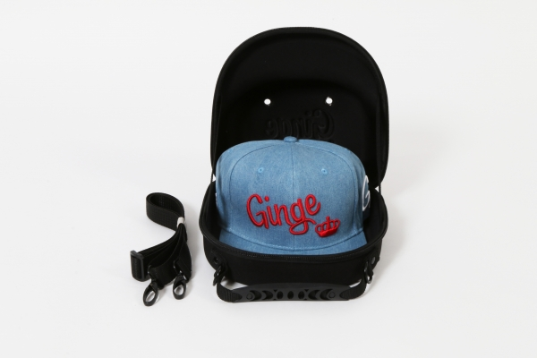Cap Carry Case With All Over Denim Strapback