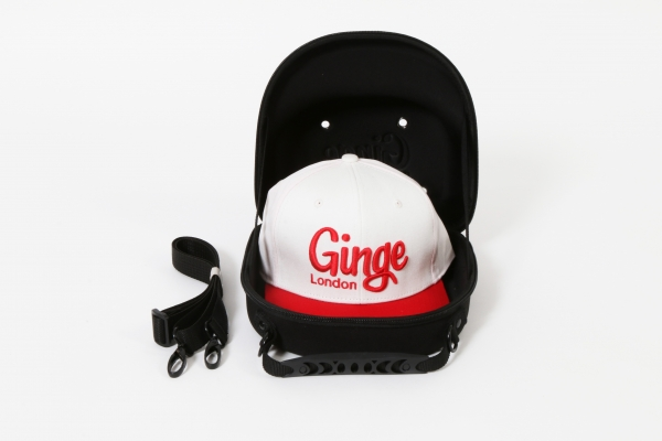 Cap Carry Case With White Red Peak Strapback