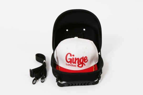 Cap Carry Case With White Red Studded Peak