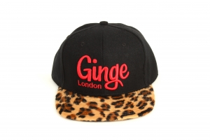 Ginge London Classic Black with Leopard print