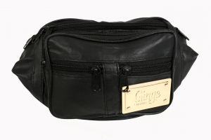 Ginge London Gold Plaque Bum Bag