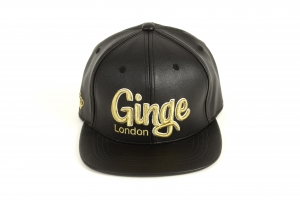 Ginge London Leather strapback (Gold)