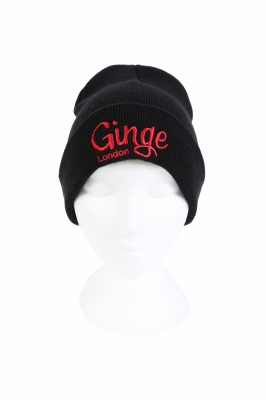Ginge London Junior Black Beanie