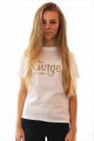 Ginge London Kids Leopard Print T-shirt White