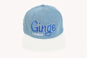 Ginge London Denim Strapback White Peak