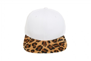 Plain White with Leopard Print both Peaks