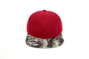 Plain Burgundy with Snakeskin peak both sides