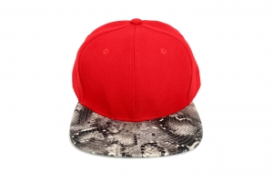 Plain red with Snakeskin peaks both sides