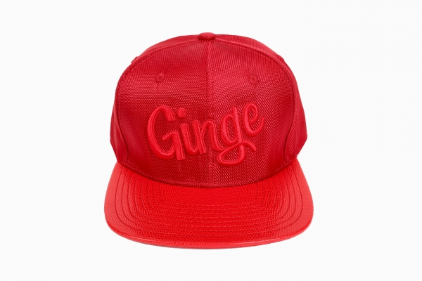 Ginge London Red Snakeskin Strapback