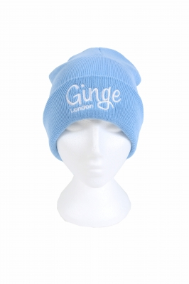 Ginge London Baby Blue Beanie