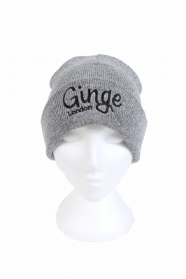 Ginge London Grey Beanie