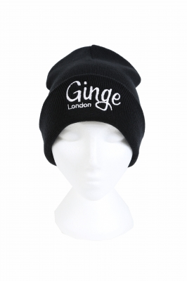 Ginge London Black & White Beanie