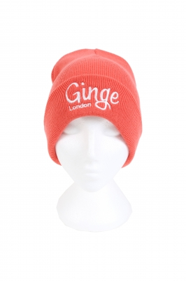 Ginge London Exclusive Coral Beanie