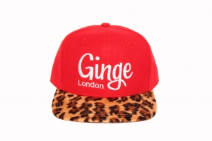 Ginge London Classic Red with Leopard print