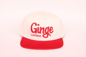 Ginge London Classic White with Red peak