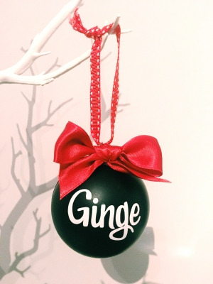 Christmas Bauble in Black