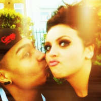 Jordan Banjo with Jesy from Little Mix