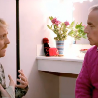 Keith Lemon talking to Harry Winkler on Lemon la vida loca