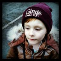 Leo rockin his beanie. Ginge and proud